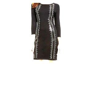 Rhinestone Sweater Dress